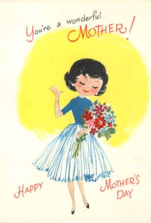 My grandmother or maybe father helped me choose this typical store-bought card from the late '50s