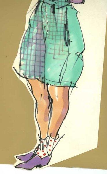 Blair in shorts - bottom