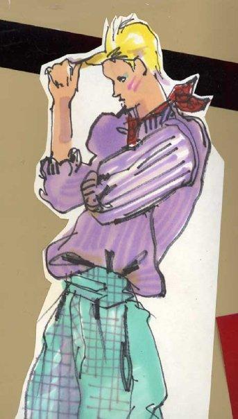 Blair in shorts - top
