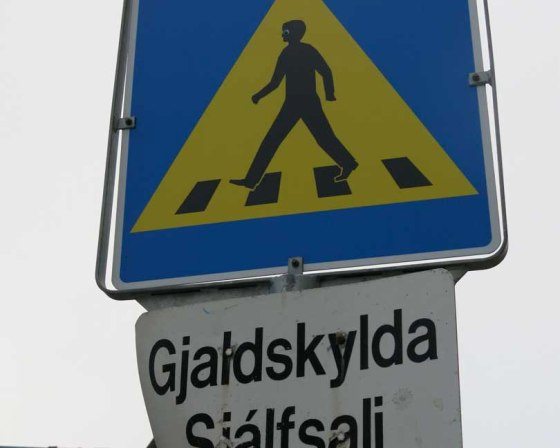 street sign in Reykjavik