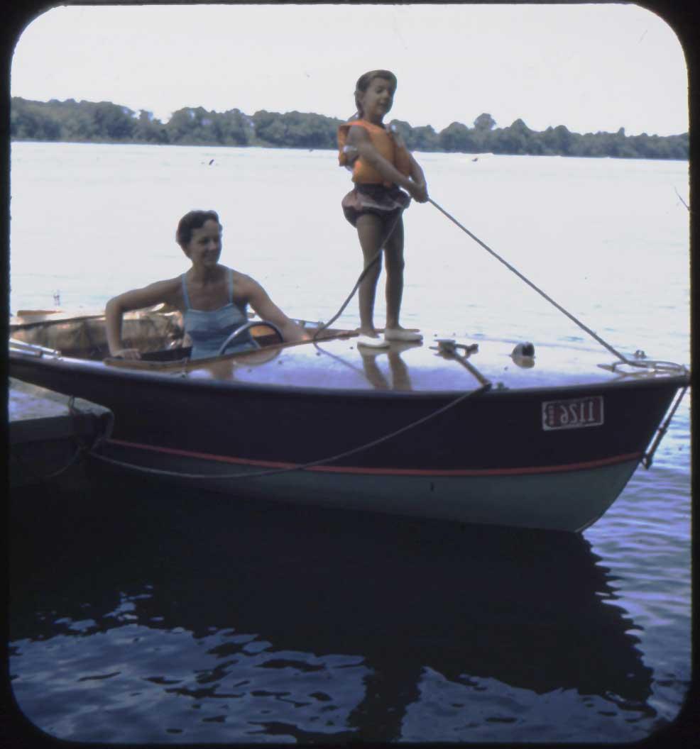 Cottage - me on boat