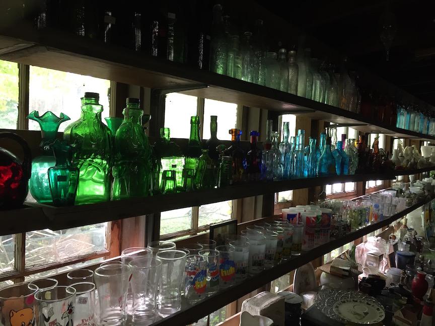 bottle shelves