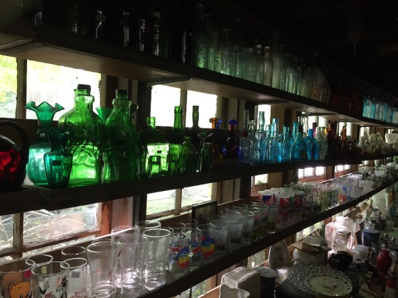 bottle shelves